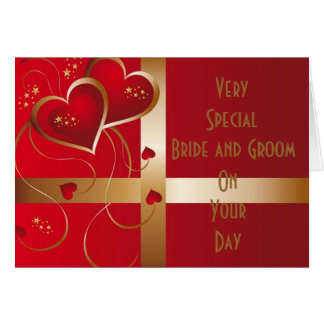 """""""VERY SPECIAL COUPLE"""" WEDDING WISH GREETING CARD"""