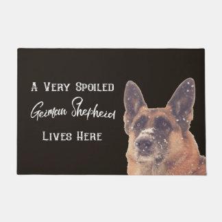 Very Spoiled German Shepherd Dog Doormat