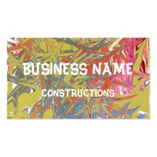 Very strange pattern pack of standard business cards