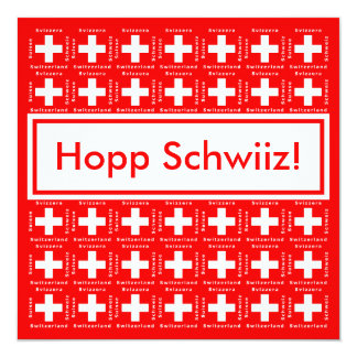 Very Swiss - Hopp Schwiiz, Go Switzerland Party Card
