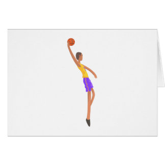 Very Tall Basketball Player Action Sticker Card