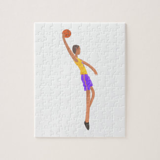 Very Tall Basketball Player Action Sticker Jigsaw Puzzle