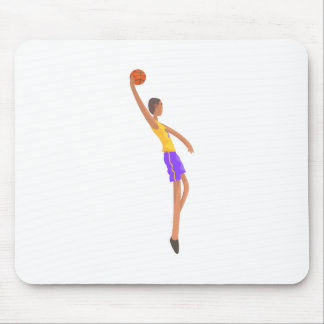 Very Tall Basketball Player Action Sticker Mouse Pad