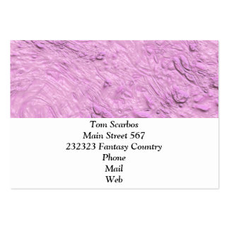 very thick painted pink (I) Pack Of Chubby Business Cards