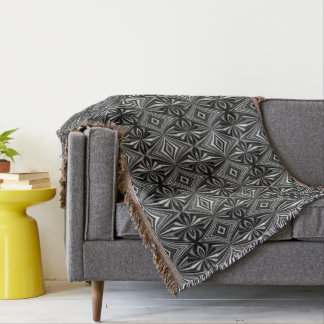 Very Unique Black and White Pattern Throw Blanket