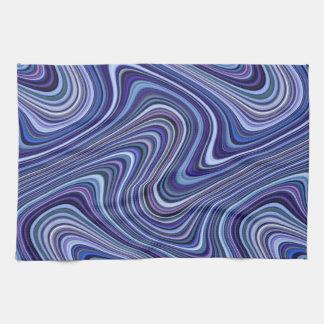 Very Unique Blue Purple Pink Curvy Line Pattern Tea Towel
