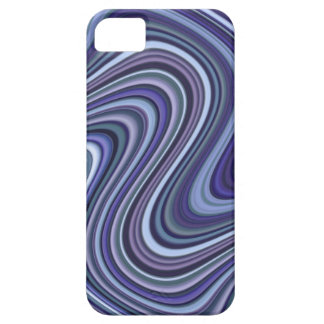 Very Unique Blue Shade Curvy Line Pattern Barely There iPhone 5 Case