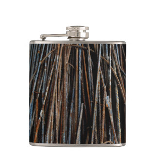 Very Unique Cool Rusty Bars Hip Flask