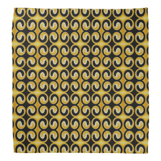 Very Unique Cool Yellow Black Pattern Bandana