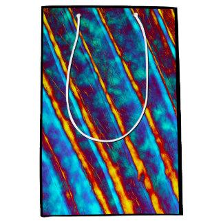 Very Unique Cool Yellow/Blue/Orange/Purple Pattern Medium Gift Bag