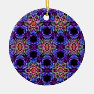 Very unique gift, LED light pattern Round Ceramic Decoration