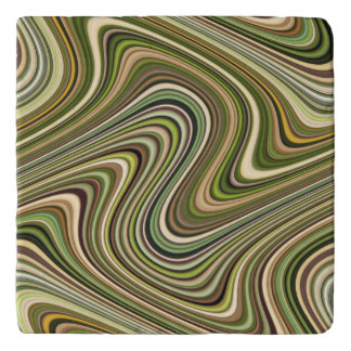 Very Unique Multi-Color Curvy Line Pattern Trivet