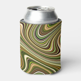 Very Unique Multi-Colored Curvy Line Pattern Can Cooler