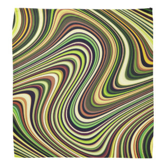 Very Unique Multicolored Curvy Line Pattern Bandana
