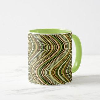 Very Unique Multicolored Curvy Line Pattern Mug