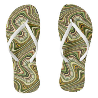 Very Unique Multicolored Curvy Line Pattern Thongs