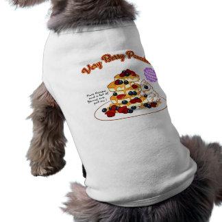 < Very very the pancake > Very berry pancakes Sleeveless Dog Shirt