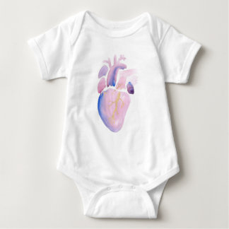 Very Violet Heart Baby Bodysuit