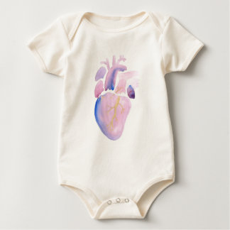 Very Violet Heart Baby Bodysuit