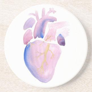 Very Violet Heart Coaster