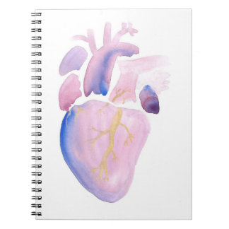 Very Violet Heart Notebook