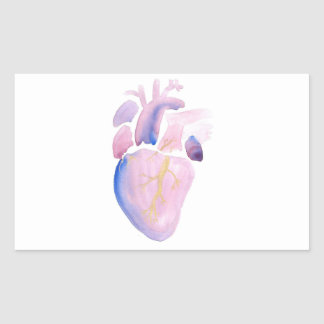 Very Violet Heart Rectangular Sticker