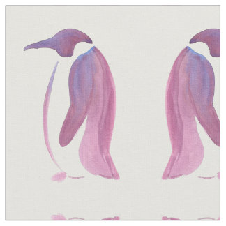 Very Violet Penguin Fabric