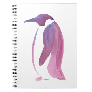 Very Violet Penguin Notebook