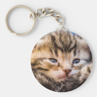 very young baby cement basic round button key ring