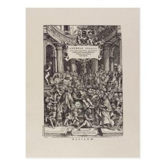"Vesalius ""Fabric of the Human Body"" Frontispiece Postcard"