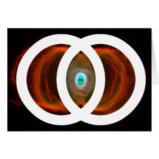 Vesica Piscis Hourglass Nebula Card