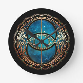 Vesicle Pisces Round Clock