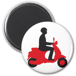 Vespa more scooter 6 cm round magnet