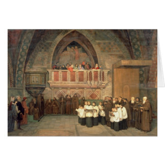 Vespers in the Saint Francis Church Card