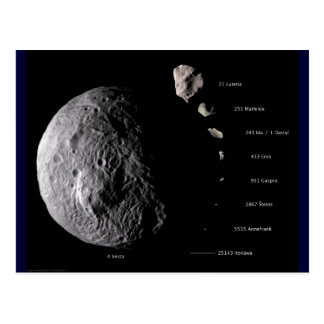 Vesta and Asteroid Gallery Postcard