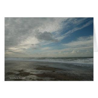 Vesterhavet. Jutland. Denmark. Card