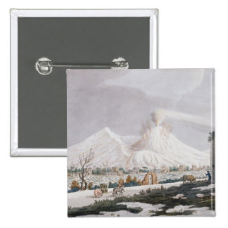 Vesuvius in Snow, plate V from 'Campi Phlegraei: O 15 Cm Square Badge