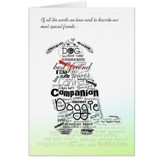 Vet & Business Card - Dog Sympathy Card - Words