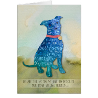 Vet & Business PitBull Dog Sympathy Card
