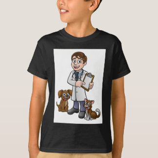 Vet Cartoon Character Holding Clipboard T-Shirt