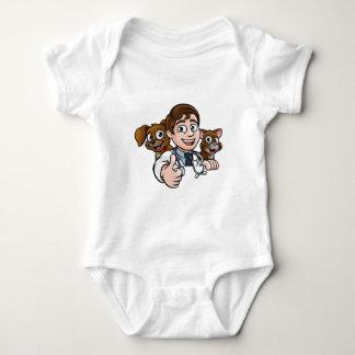 Vet Cartoon Character Thumbs Up Sign Baby Bodysuit