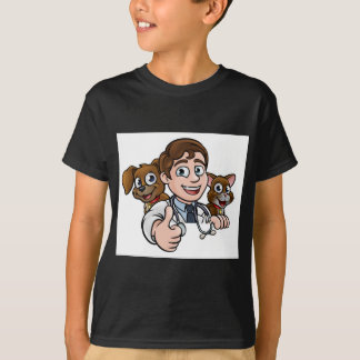 Vet Cartoon Character Thumbs Up Sign T-Shirt
