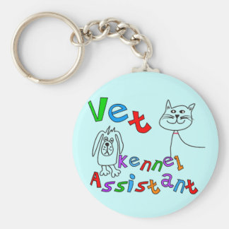 Vet Kennel Assistant T-Shirts and Gifts Key Ring