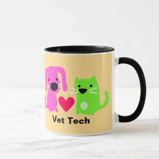 Vet Tech Dog & Cat & Heart Mug
