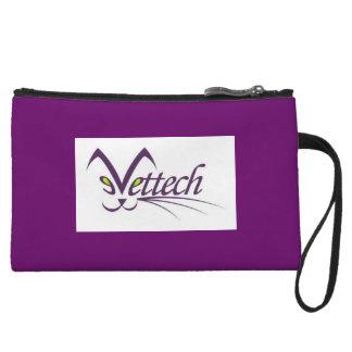 vet tech purple clutch wristlet purse