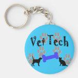 Vet TECH With Dog Bone Keychains