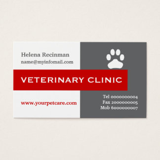 Vet/Veterinary Clinic, paw red eye-catching