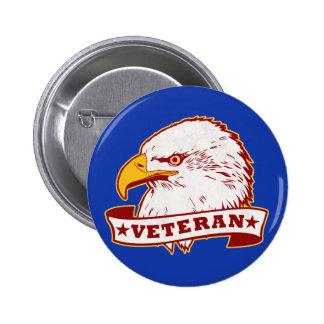 Veteran 6 Cm Round Badge