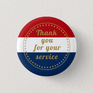 Veteran Active Duty Military Police Fire Thank You 3 Cm Round Badge