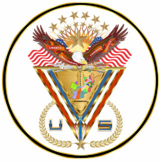 Veteran Afghanistan View about Design Photo Sculpture Badge